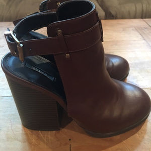 F21 Open Back Booties